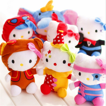 "7pcs/lot Hot Sale 20cm(8"") Lovely Hello Kitty Plush Toys Lot Children Soft Plush Animals Hello Kitty Doll WL43"