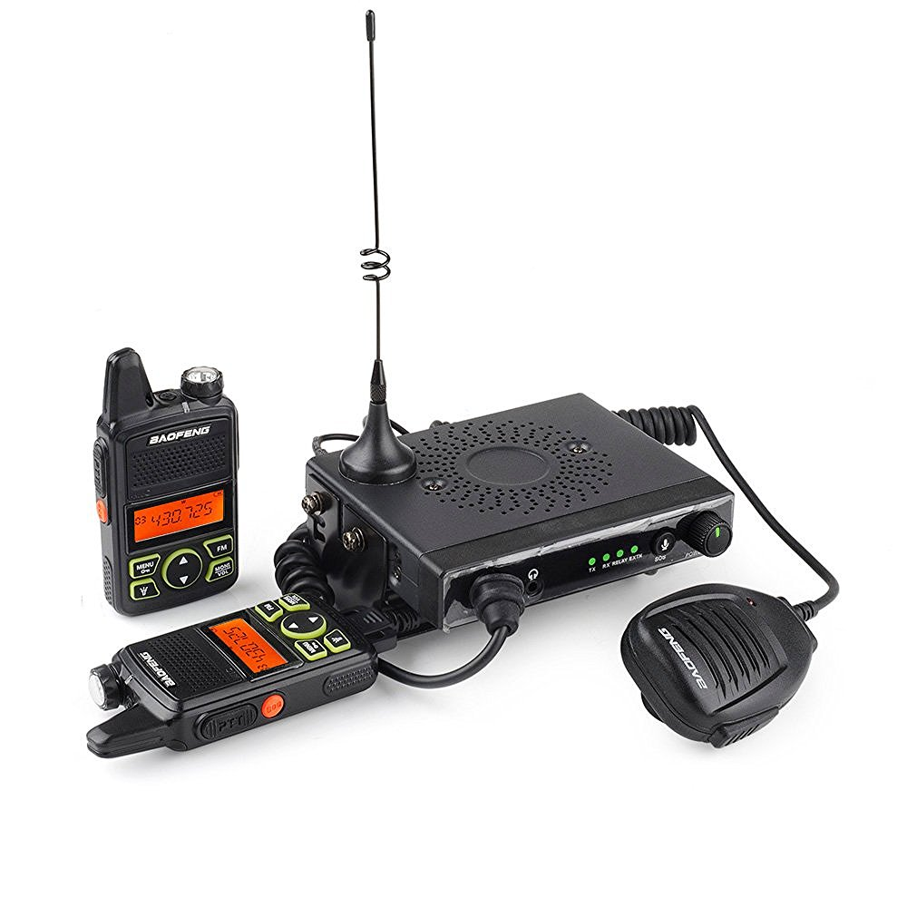 Baofeng-MINI-Mobile-Radio-T1-15W-UHF-400-470MHz-with-2-Handheld-Walkie-Talkie