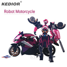 Motorcycle Model Transformative Al West Carroll Robot Anime Plastic Toys Car Action toys Action Figure Boys Gift For Boy Toys(China)