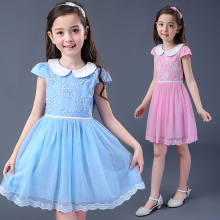 New girls dress princess for 5--16 years old for party kids wedding gowns baby clothes flower fashion elegant summer style cheap