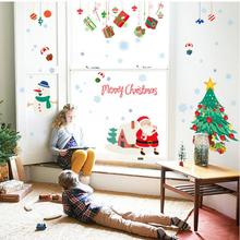Chrismas Tree Cartoon Vinyl Wall stickers for kids rooms Home decor DIY Child Wallpaper Art Decals 3D Design House Decoration(China)