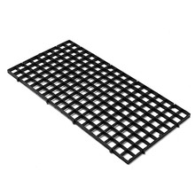 Durable Quality Black Plastic Grid Divider Tray Egg Crate Aquarium Fish Tank Filter Bottom Lsolate Pane(China)