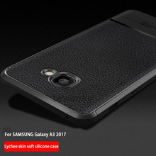 Buy Samsung Galaxy a3 2017 Case Luxury Litchi Grain Leather Soft Carbon fiber TPU Silicone Back Cover Phone Cases A320 Case for $2.99 in AliExpress store