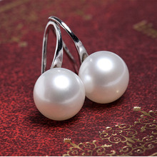 Free shipping top quality Fashion silver Color Earring beads Stud Earrings For Women Jewelry Simulated pearl earrings(China)
