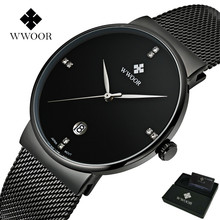 Men Watches Luxury Ultra Thin Date Clock Male 50M Waterproof Steel Strap Casual Sports Quartz Wrist Watch With Original Gift Box