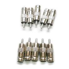 2015 Hot 10Pcs BNC Female TO RCA Male Plug COAX Adapter Connector(China)