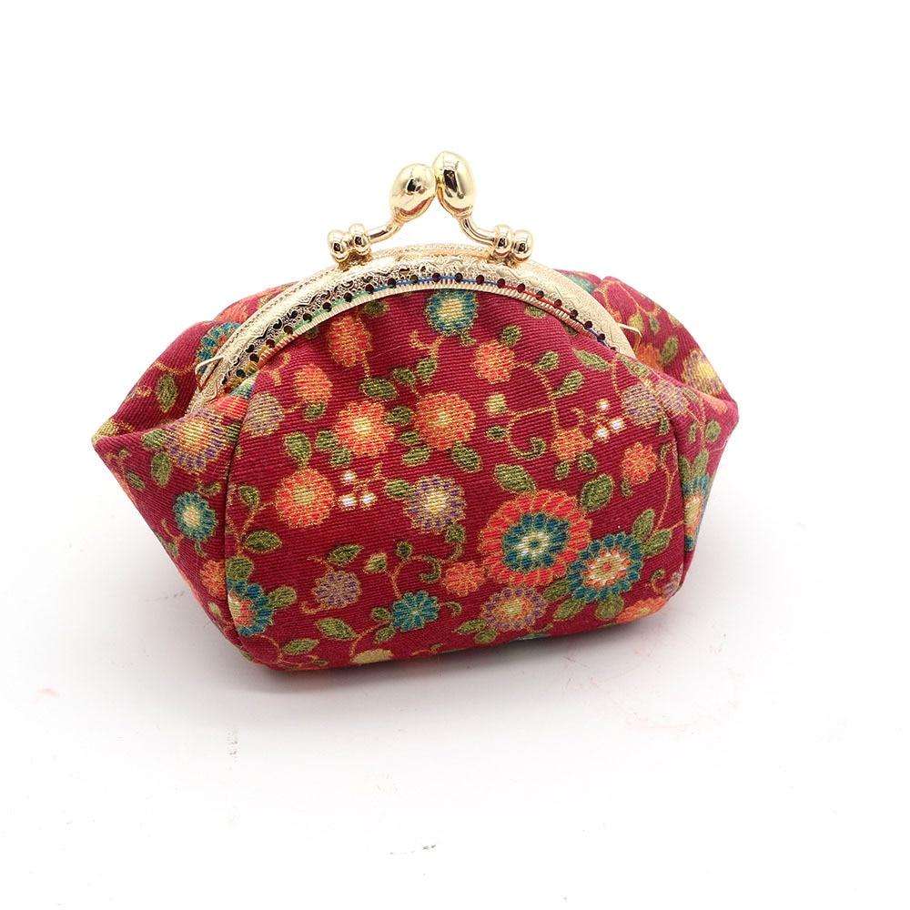 Mini Coin Purse Kiss Lock Girls  Change Purse Hasp Wallet women lady flower bags  (11)