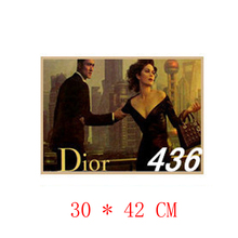 NO.436,Famous extravagant brand/Advertisement poster/kraft paper/Wall stickers/Retro Bar Poster/decorative painting30x42cm