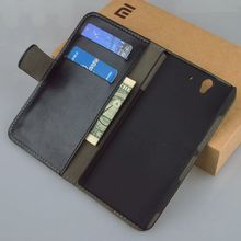 Luxury Stand Flip Wallet Leather Case Skin Shell Cover For Sony Ericsson Sony Xperia Z L36H C6603 , 9 Colors in Stock !