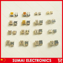 Hot! widely used 16models 5P 8P 10P Mini USB  Mini USB jack USB Charging Connector for Mp3 Mp4 Tablet PC etc