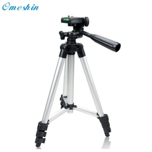 Hot Sale Portable Professional Aluminum Telescopic Digital Camera Camcorder Tripod Stand Holder For Camera+Mobile Clamp Dec19