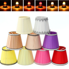 12cm Modern Fabric Colth Chandelier Lampshade Light Cover Lamp Holder Clip On Sconce Table Beside Bed Lamp Hanging Light(China)