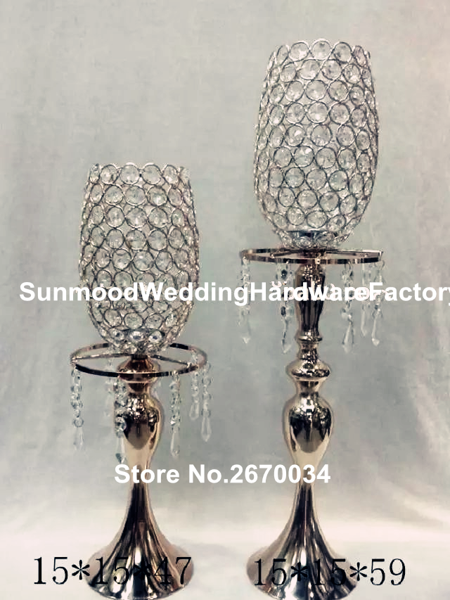 glass sliver iron crystal ball table centerpiece wedding dinner tables