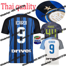 in 17 18 Inters kids soccer jersey kits+socks 2017 2018 adults Milaning football shirts kids' kit w