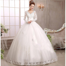free shipping 2017 new wedding dress church dress romantic sexy bridal gown brides dress lace fashion hot wedding dresses yan76