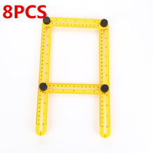 2017 New 8PCS Measuring Instrument ruler mechanism slides angle-izer template tool four-sided