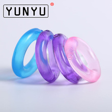 4 pcs Silicone Time Delay Penis Ring Cock Rings Adult Products Male Sex Toys Crystal Ring Color Random(China)