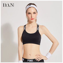 DANENJOY 2018 Fitness Women Bra Workout Padded Tops Sports Yoga Bra Athletic Patchwork Sexy Pink Bra Lingerie Crop Bra Free Size(China)