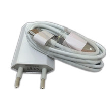 SZHXNOR For iphone 4 Cable 30 pin Charger Cable & 5V 1A AC Travel Wall Power Charger Adapter For iphone 4 4s iPad 2 3(China)