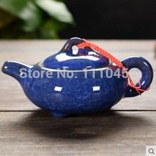 Different Colours Handmade Chinese Traditional Calving Glaze Ceramic Tea Service Pottery Teapot Kettle Chinaware Made in China