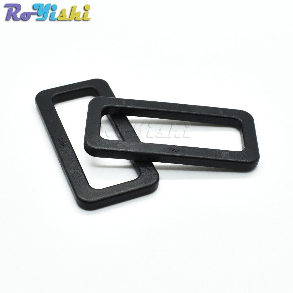 Plastic Black Loops Looploc Buckles Rectangle Rings Backpack Straps Webbing Bag