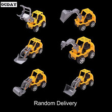 OCDAY Diecast Model Mini Construction Vehicle Engineering Car Machineshop Truck Artificial Model Toy Car Dump Children Gift Toys(China)
