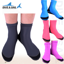 DIVE&SAIL Diving Socks With Webbed Feet Thick Slip Wear Lycra Elastic Snorkeling Socks(China)