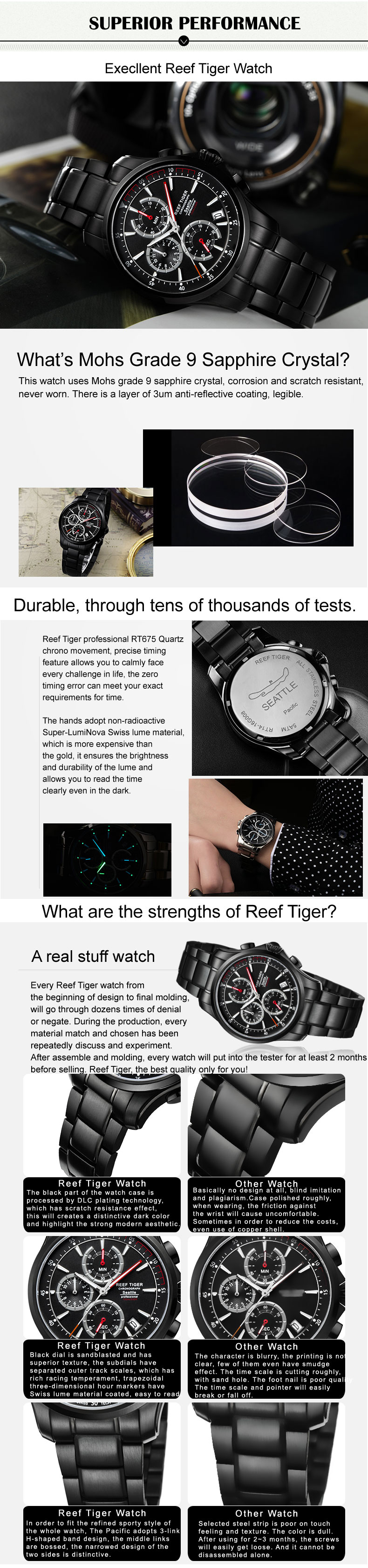 Watches Tiger/RT Last Steel 8