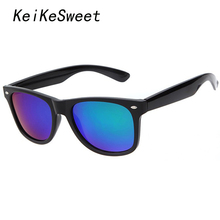 KeiKeSweet Polarized Points Coating Top Blue Brand Designer Hot UV400 Sun Glasses Women Men Rayed Fun Rivet Sunglasses