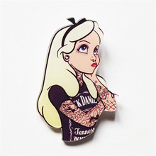 1PCS Free Shipping Harajuku Kawaii Cool Sexy Beauty Girl Women Brooch Pin Acrylic Badge Packback Clothes Cartoon Icon Brooches(China)