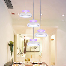Modern restaurant droplight Iron products pendant lights 4 Heads  220V LED Indoor Lighting