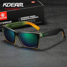 KDEAM Sport Sunglasses UV400 Outdoor Original Square Design Polarized Men Summer Women Brand