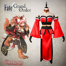 Fate/Grand Order Tamamo no mae Cosplay Costume Top+Skirt+Sleeves+Ears+Corset+Gloves+Shoes Covers+Socks+Tail Custom-made