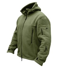 TAD Outdoors Military Tactical Soft Shell Fleece Hoody Jacket Men Sportswear Thermal Hoodies Jacket 2017 high quality(China)