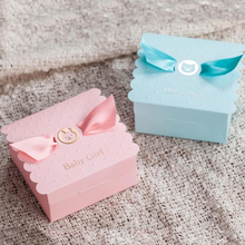 30Pcs/Lot Lovely Bear Baby Boy Girl Wedding Favor Boxes With Ribbon Baby Shower Wedding Decoration Wholesale(China)
