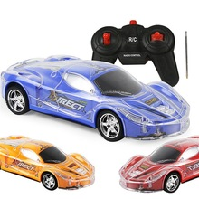 4WD 1/24 RC Remote Control Light Up Racing Car W/ 3D Flashing Lights Drive Toy Red Blue Yellow For Kids Children Birthday Gift(China)
