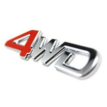3D Metal 4WD car sticker Decal Car-Styling for SUV Ford Toyota Honda CR-V RAV4 Jeep mitsubishi car accessories