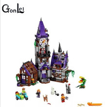(GonLeI) 10432 10431 Scooby Doo Mysterious Ghost House  Building Block  Toys
