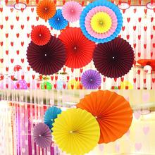 Chinese Paper Fans Decorations Hanging Flower Fans Folding Fans Party Home & Wedding Decorations Garland Paper Flowers Fan L45