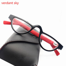 PD62 Fashion Retro slim Plastic Men and Women Reading Glasses Rectangular Spring Hinge  Eyeglasses Presbyopic Glasses 1.0 1.5 2