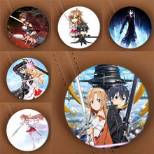 Youpop Sword Art Online Kazuto Yuuki Asuna Anime Brooch Pins Badge Accessories For Clothes Hat Backpack Decoration(China)