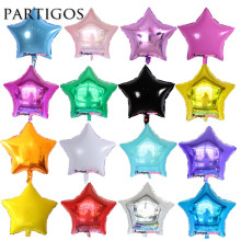 10pcs/lot 18inch pure star foil balloons wedding birthday party decor metallic helium inflatable globos marriage kids gifts ball(China)