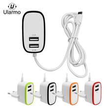 Ularmo 3.1A Triple 2Port USB Port Wall Home Travel AC Charger Adapter For S7 EU Plug