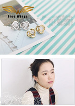 New Fashion Jewelry Brand Small Excellent Yaniu Moving Lines Flash Rhinestone Earrings B0D4/5D