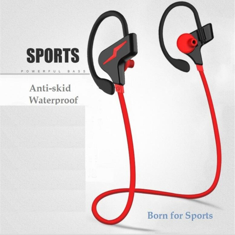 Bluetooth headset wireless sports ear double ear stereo headset sports waterproof headset for Samsung Xiaomi mobile phone<br>