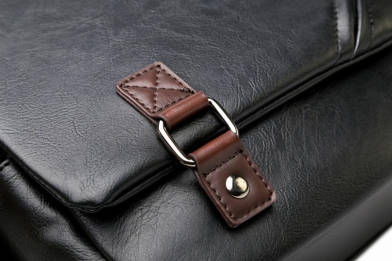 MJ Men\`s Bags Vintage PU Leather Male Messenger Bag High Quality Leather Crossbody Flap Bag Versatile Shoulder Handbag for Men (19)