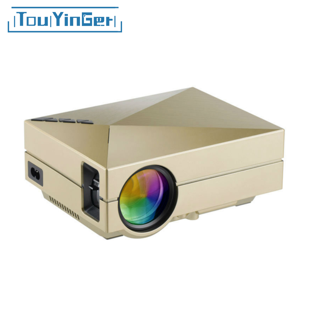 TouYinger GM60 Mini LED Projector Support HD 1080P Video Games TV Home Theater Portable LCD Cheap Digital Outdoor Proector(China)