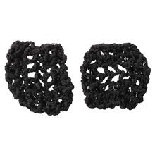 Best Sale Cover chignon's dancing and skating girls' black hair net, 2 pcss