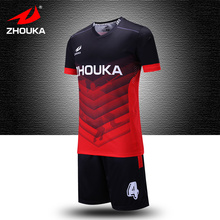 Factory Custom Make Football training suit Fustal Jersey Sublimation Football shirts New Design personalized football jersey(China)