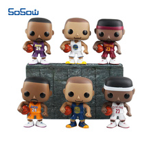 NBA Star Figurines Funko POP Kobe Bryant LeBron James Stephen Curry Basketball Sport Vinyl Doll Toys